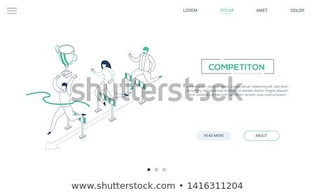 Victoire modernes isométrique vecteur web bannière Photo stock © Decorwithme