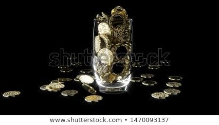 Foto stock: Roto · bitcoin · caída · precio · moneda · crisis