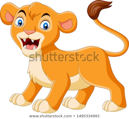 Angry Cartoon Lioness Stock photo © cthoman