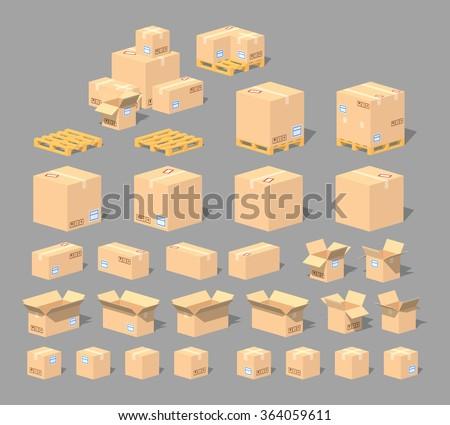kutuları · ayarlamak · farklı · pozisyonları · kâğıt · kutu - stok fotoğraf © colematt