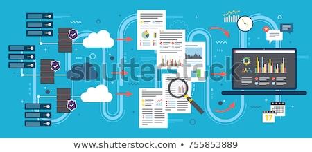 monitor · statistiche · illustrazione · grafico - foto d'archivio © rastudio