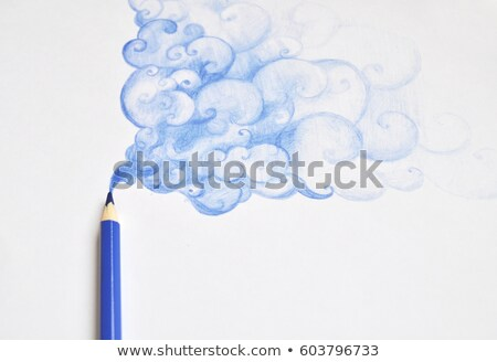 festmény · csodálatos · kék · ég · ecset · égbolt · felhők - stock fotó © szefei