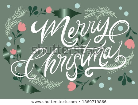 Christmas mensen illustratie ontwerp achtergrond witte Stockfoto © colematt