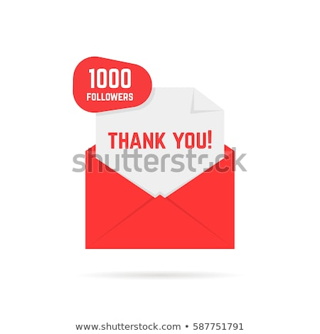 1000 followers banner - modern flat design style illustration Stock photo © Decorwithme