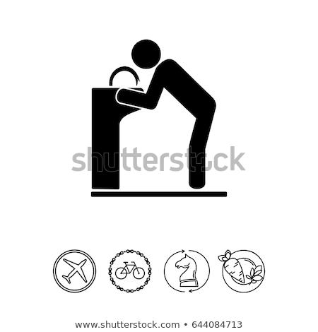 spring water fountain icon vector illustration Stock photo © blaskorizov