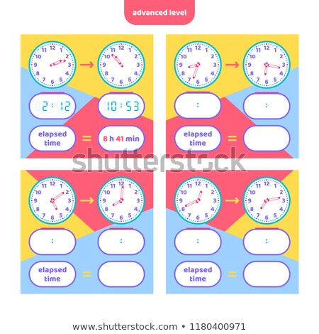 Math worksheet design for telling time Stock photo © colematt