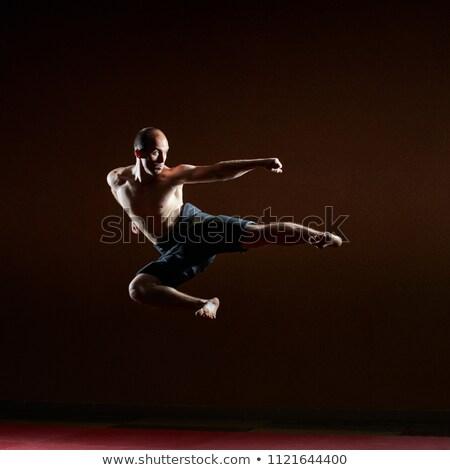 сторона · спортсмена · прыжок · в · высоту · человека · спорт - Сток-фото © Andreyfire