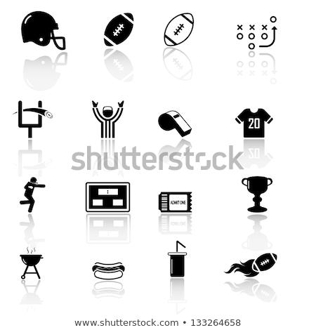 Icon voetbal arbiter scorebord dun lijn Stockfoto © angelp