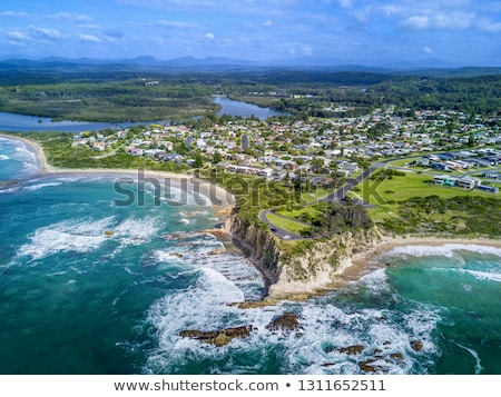 Tomakin aerial views of beaches and escarpment Stock photo © lovleah