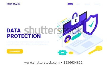 Cyber security software concept banner header. Stock photo © RAStudio