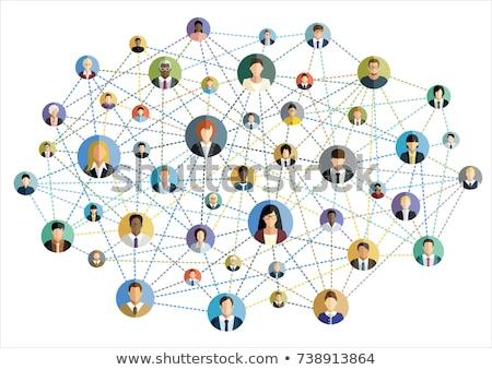 Red social establecer perfil Internet usuarios mujer Foto stock © robuart