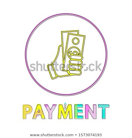 Kroki el dolar ödeme stil ikon Stok fotoğraf © robuart