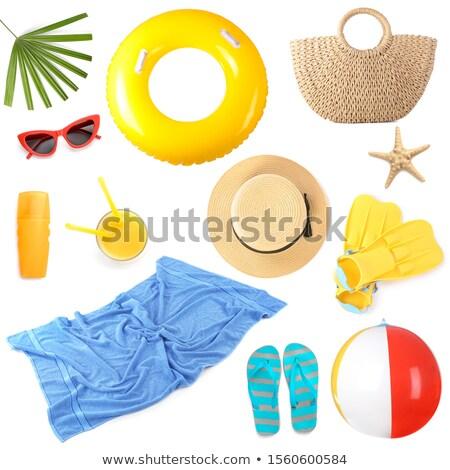 nyár · vízpart · vakáció · vektor · szett · nyitva - stock fotó © jossdiim
