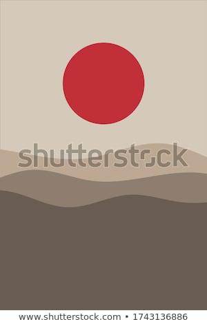 Fuji japoński górskich minimalny kolor wektora Zdjęcia stock © pikepicture