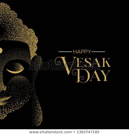Nap kártya hagyományos arany Buddha arc Stock fotó © cienpies