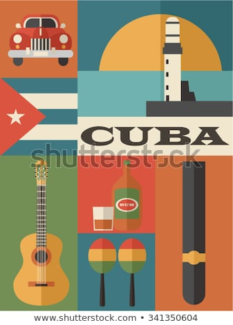 Kuba kolorowy ikona eps 10 Zdjęcia stock © netkov1