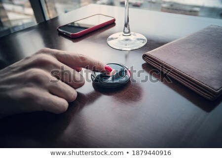 Restaurant table call button Stock photo © magraphics