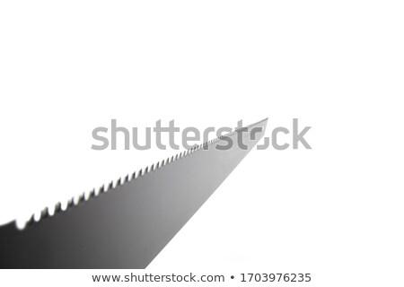 hacksaw on wood with a yellow-black handle Stock photo © mayboro