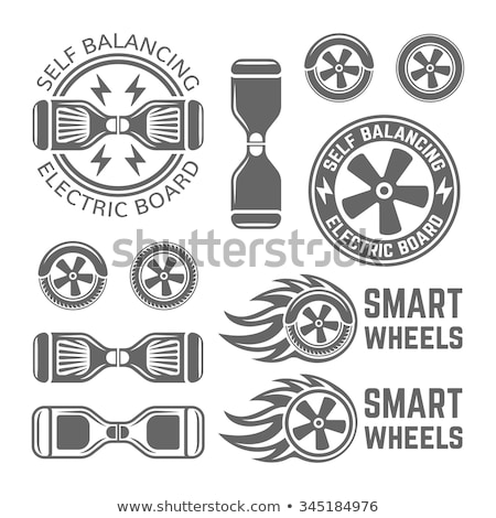 Smart Self Balancing Electric Scooter emblems Stock photo © netkov1