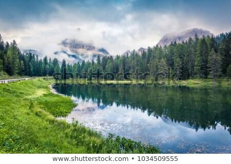 Berge · Tageslicht · blauer · Himmel · Wolken · Italien · Sonne - stock foto © frimufilms