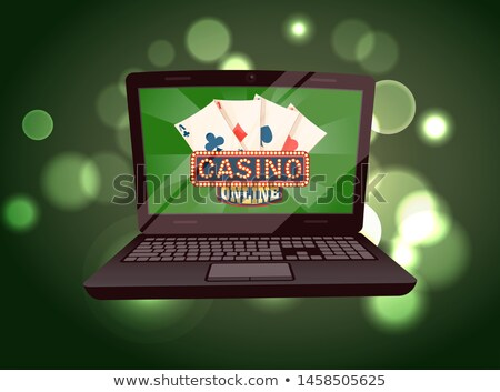 Casino Shiny Board and Deck of Ace Cards Vector Stock photo © robuart
