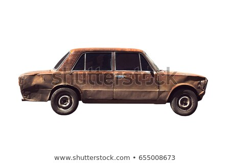 corrosie · oude · auto · detail · oude · roest · witte - stockfoto © simazoran