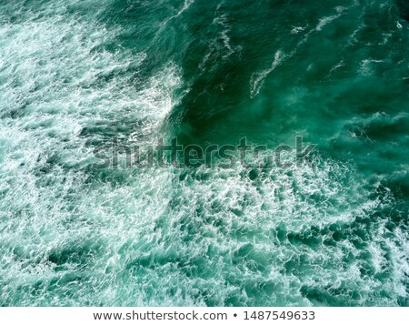 Aerial Photography of Athlantic Ocean and Tall Sea Waves Stock photo © diego_cervo