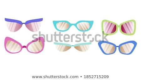 очки форме Объективы цвета вектора мужчин Сток-фото © pikepicture