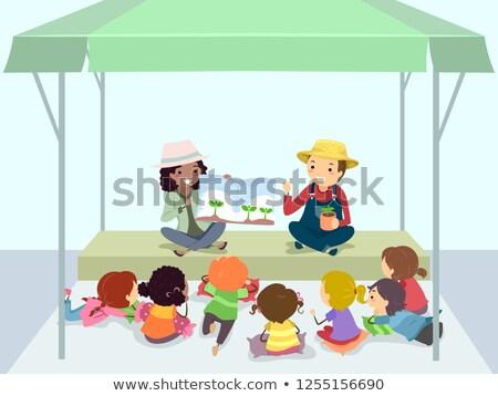 çocuklar çiftçiler pazar öykü örnek dinleme Stok fotoğraf © lenm