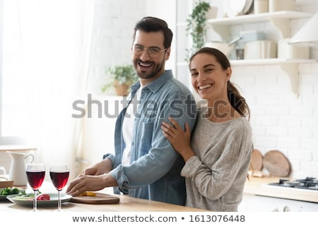 Happy girl and wooden board Stock photo © bluering