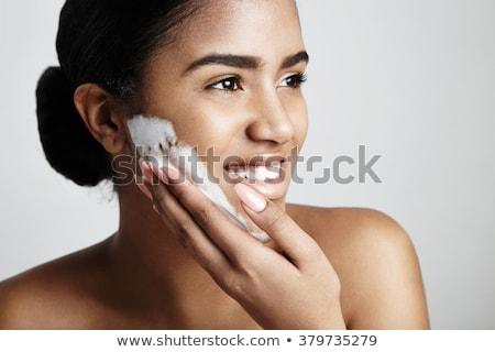 Jóvenes caucásico mujer lavado manos espuma Foto stock © dashapetrenko