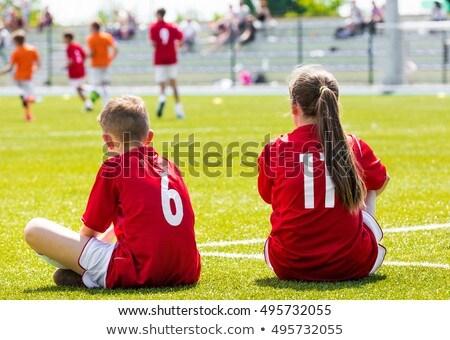 Piłka nożna konkurencja dwa młodych chłopców dzieci Zdjęcia stock © matimix