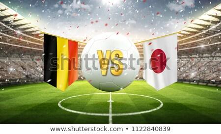 België vs Japan voetbal wedstrijd illustratie Stockfoto © olira