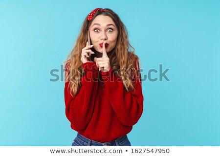 Görüntü güzel kadın konuşma Stok fotoğraf © deandrobot