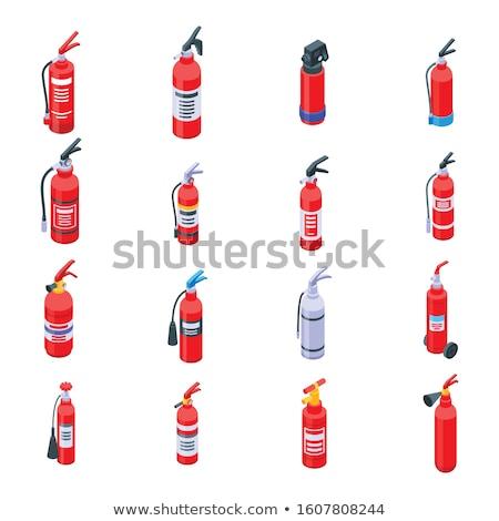 Brandweerman uitrusting isometrische vector man Stockfoto © pikepicture