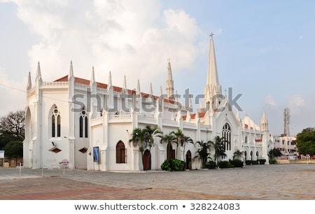Bazilika katedrális templom dél déli India Stock fotó © pazham