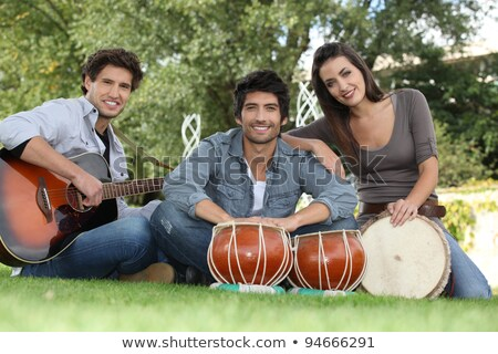 musical trio in green setting Stock photo © photography33