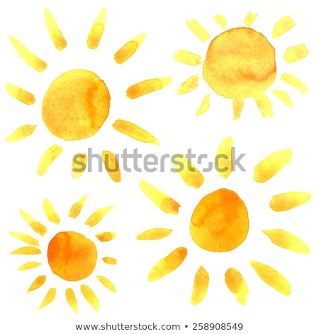 Sunburst Background Set With Paper And Beams Stock photo © adamson