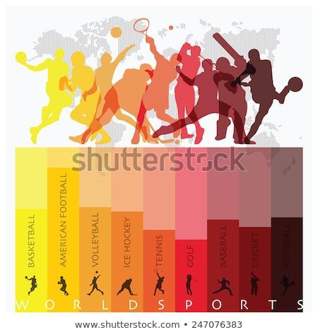 Sportok színes világ zene földgömb futball Stock fotó © pkdinkar
