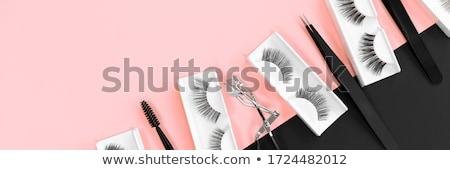 divat · szempilla · izolált · fehér · szerszám · smink - stock fotó © posterize