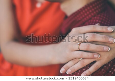 Man nuzzling his wife's neck Stock photo © photography33
