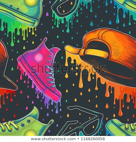Shoes seamless pattern colors Stock photo © lkeskinen