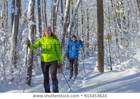 Couple cross-country skiing Stock photo © photography33