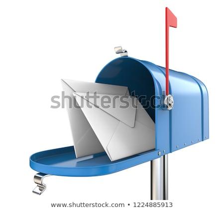 Blue Mailbox with Mails Stock photo © tashatuvango