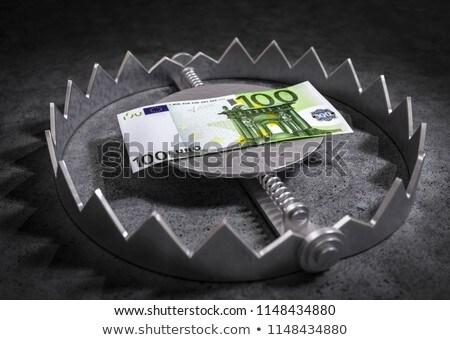 Custo armadilha tenso euro notas fundo Foto stock © joker