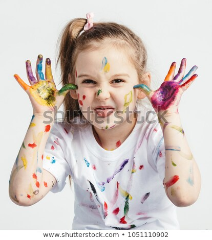 little girl making a funny face Stock photo © photography33