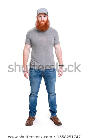 full-body portrait of handsome carpenter wearing cap Stock photo © photography33