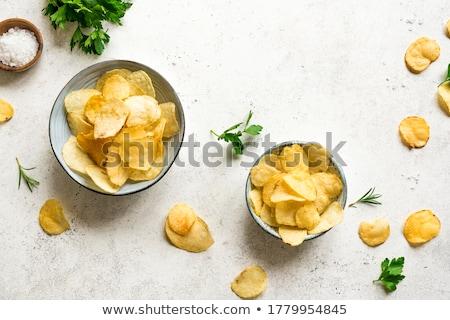 Croccante sfondo patate chip ciotola Foto d'archivio © M-studio