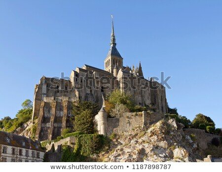 faible · marée · abbaye · saint · France · normandie - photo stock © prill