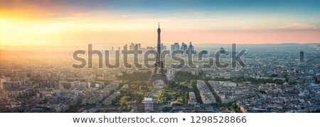 Légifelvétel Párizs párizsi környék város épületek Stock fotó © chris2k